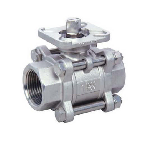 Energy Valves Direct Mount 3PC Stainless Steel Ball Valve